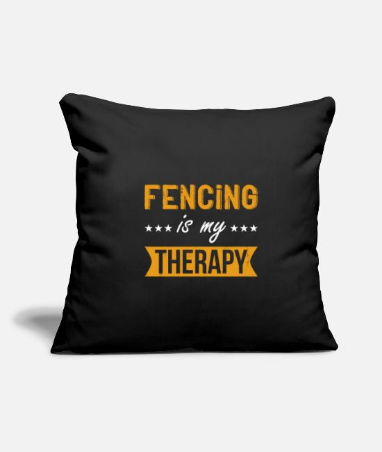 Sword Pillow Cases - Fencing fencer sport funny saying quote gift - Pillowcase 17,3'' x 17,3'' (45 x 45 cm) black