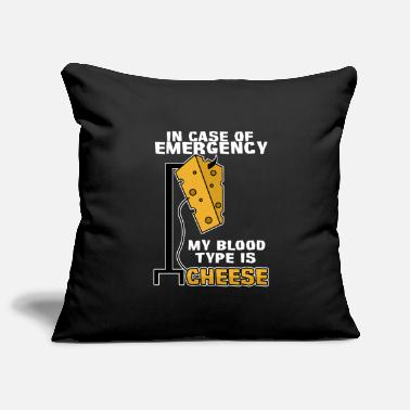Doctor My blood type is cheese - Pillowcase 17,3'' x 17,3'' (45 x 45 cm)