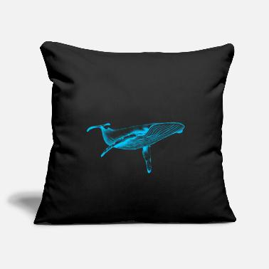 Sea &amp Blue Whale (Neon) - Pillowcase 17,3'' x 17,3'' (45 x 45 cm)