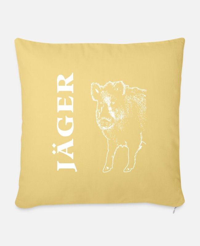 Pilot Pillow Cases - Wild boar - wild boar - wild boar - wild boar - Pillowcase 17,3'' x 17,3'' (45 x 45 cm) washed yellow