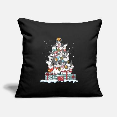 Bulldog French bulldog dog Christmas gift - Pillowcase 17,3'' x 17,3'' (45 x 45 cm)