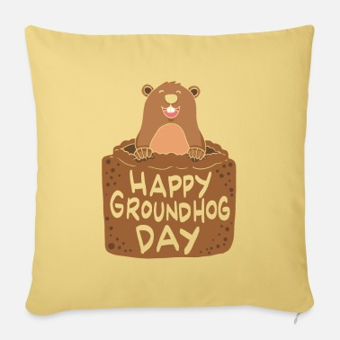Marmot Happy Groundhog Day Gift - Pillowcase 17,3'' x 17,3'' (45 x 45 cm)