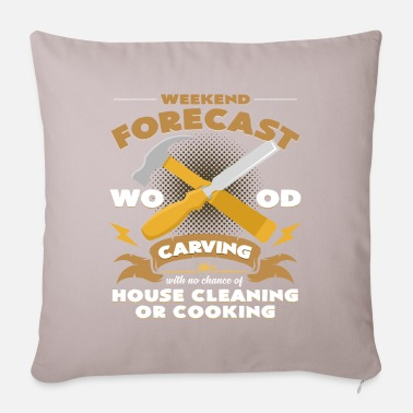Sculptural Process Weekend prediction carving woodworking - Pillowcase 17,3'' x 17,3'' (45 x 45 cm)