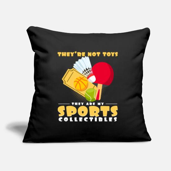 Sporty Pillow Cases - Sports collecting - Pillowcase 17,3'' x 17,3'' (45 x 45 cm) black