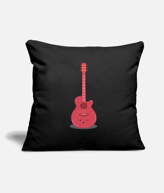 Association Pillow Cases - electric guitar - Pillowcase 17,3'' x 17,3'' (45 x 45 cm) black