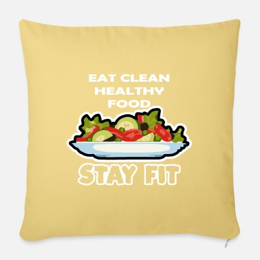 Eat Clean Eat Clean - Pillowcase 17,3'' x 17,3'' (45 x 45 cm)