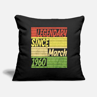 Legal Age Legendary since March 1960 60th birthday 60 years - Pillowcase 17,3'' x 17,3'' (45 x 45 cm)