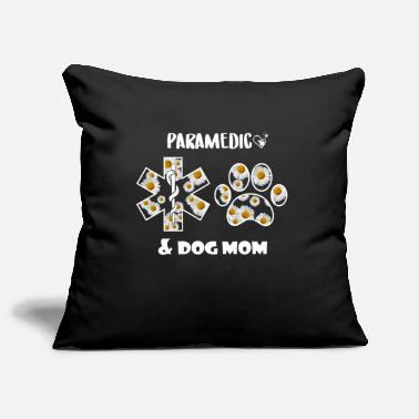 Great Dane Paramedic and Dog Mom Cute Flowers Gift for Women - Pillowcase 17,3'' x 17,3'' (45 x 45 cm)