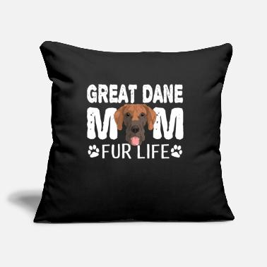 Puppies Great Dane Mom For Life Dog Pun - Pillowcase 17,3'' x 17,3'' (45 x 45 cm)