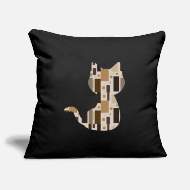 Pattern Cat pattern pattern - Pillowcase 17,3'' x 17,3'' (45 x 45 cm)