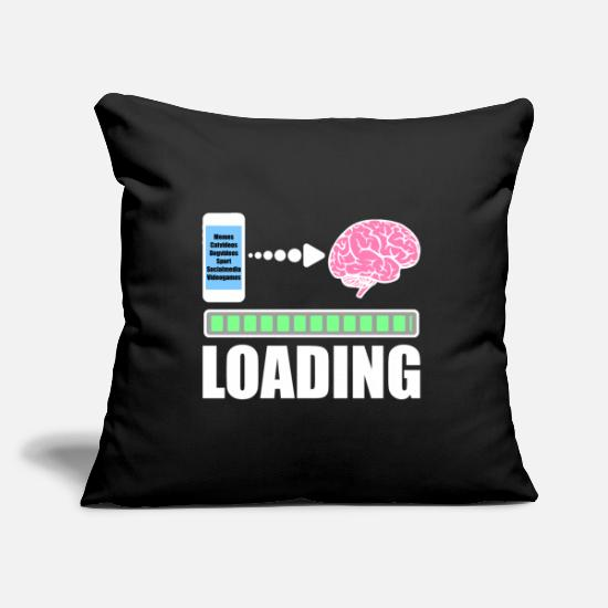 Gift Idea Pillow Cases - Mobile phone smartphone searches loading bar - Pillowcase 17,3'' x 17,3'' (45 x 45 cm) black