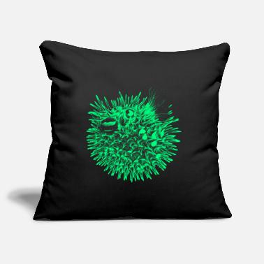 Sea &amp Globefish (Neon) - Pillowcase 17,3'' x 17,3'' (45 x 45 cm)