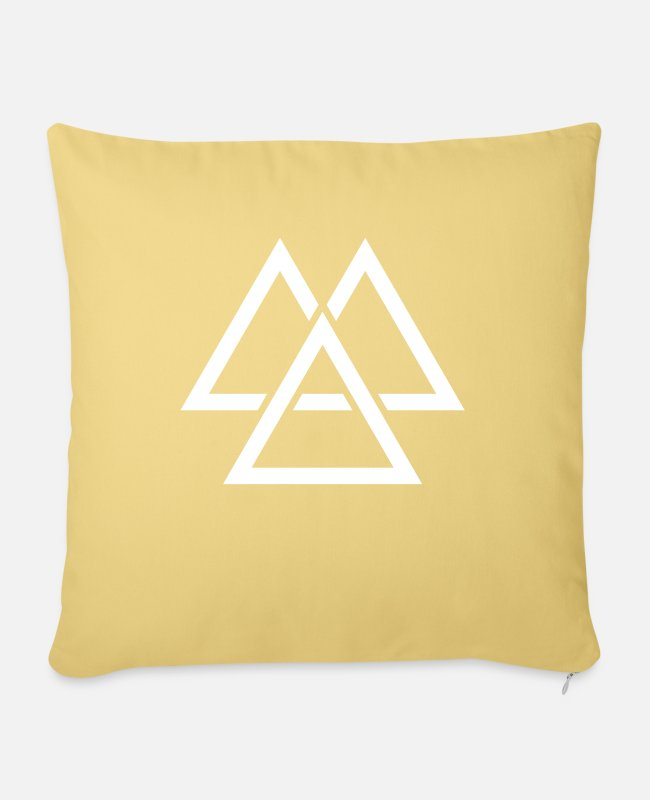 Hipster Pillow Cases - minimal geometric 115 - Pillowcase 17,3'' x 17,3'' (45 x 45 cm) washed yellow