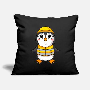 House Building Topping out penguin house building house building gift - Pillowcase 17,3'' x 17,3'' (45 x 45 cm)