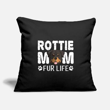 Portrait Rottie Mom For Life Rottweiler Dog Pun - Pillowcase 17,3'' x 17,3'' (45 x 45 cm)