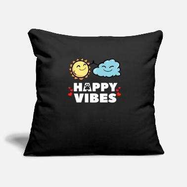 Happy vibes happy Happy life loving sun - Pillowcase 17,3'' x 17,3'' (45 x 45 cm)