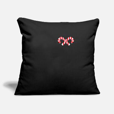 Candy Candy cane candy candy - Pillowcase 17,3'' x 17,3'' (45 x 45 cm)