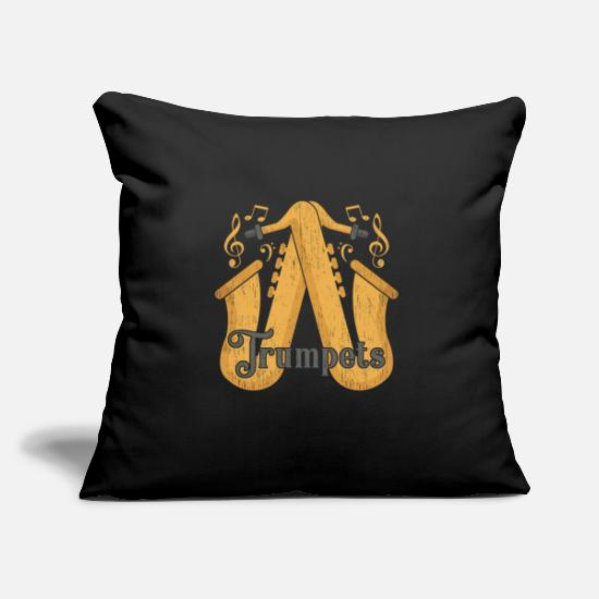 Gift Idea Pillow Cases - Trumpet gift sound sound instrument - Pillowcase 17,3'' x 17,3'' (45 x 45 cm) black