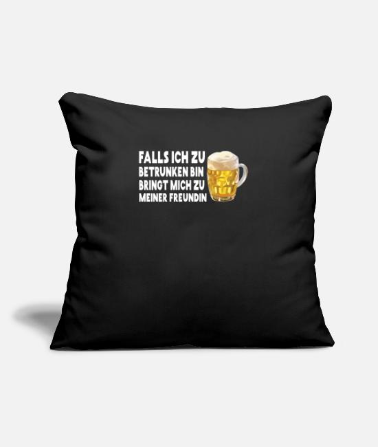 Christmas Pillow Cases - In case I'm too drunk I'm a friend - Pillowcase 17,3'' x 17,3'' (45 x 45 cm) black