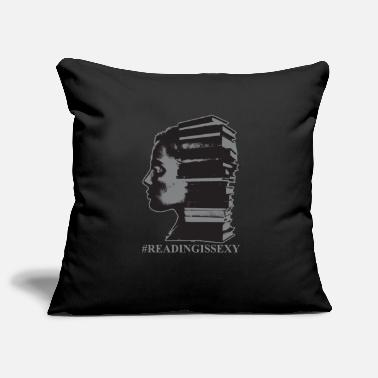 Lire Reading Is Sexy Bibliothécaire Girl Art Funny Gift - Housse de coussin décorative 44 x 44 cm