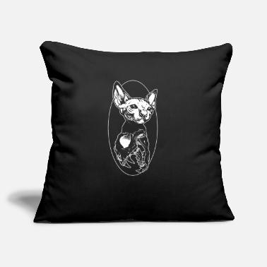 Cat Sphinx Cat Black Metal Cats Skull Present - Kuddfodral