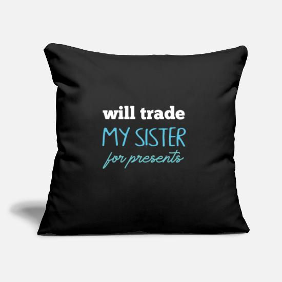 Siblings Pillow Cases - Sibling gift - Pillowcase 17,3'' x 17,3'' (45 x 45 cm) black