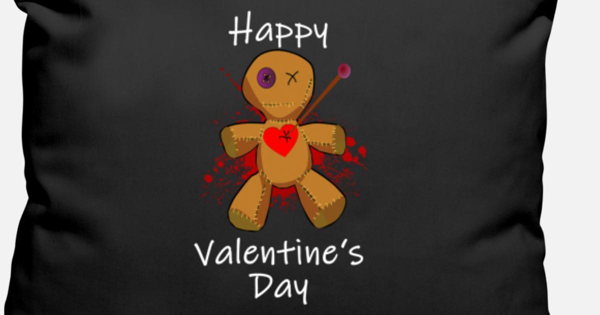 Anti Valentinstag Voodoo Puppe Liebe Geschenk Kissenhulle Spreadshirt