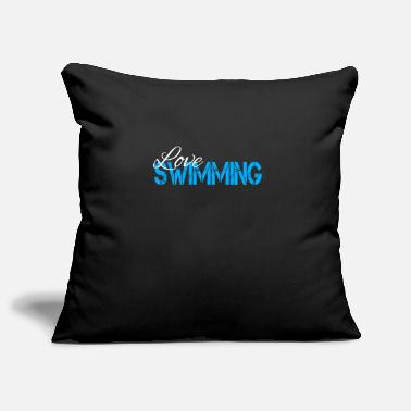 Swim Swimming swimming swimming swimming swimming - Pillowcase 17,3'' x 17,3'' (45 x 45 cm)