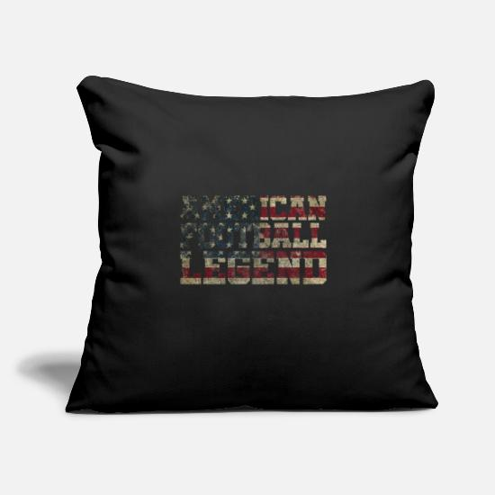 Football Pillow Cases - AMERICAN FOOTBALL LEGEND - Pillowcase 17,3'' x 17,3'' (45 x 45 cm) black