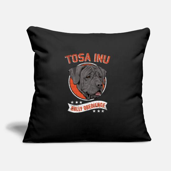 Love Pillow Cases - Tosa Inu Obedience Gathering - Pillowcase 17,3'' x 17,3'' (45 x 45 cm) black