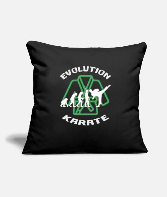 Martial Arts Pillow Cases - Darwin's evolution of karate - Pillowcase 17,3'' x 17,3'' (45 x 45 cm) black