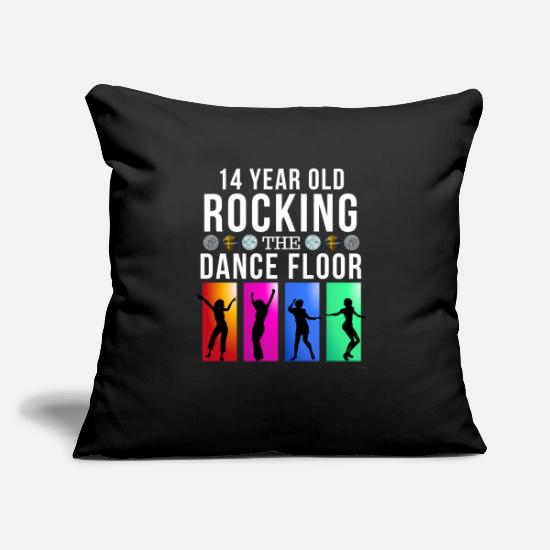 Birthday Pillow Cases - 14 Still Rocking The Dance Floor - Pillowcase 17,3'' x 17,3'' (45 x 45 cm) black