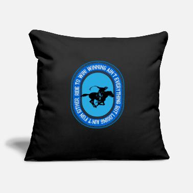 Cowboy Ride to win, riding to win - Pillowcase 17,3'' x 17,3'' (45 x 45 cm)