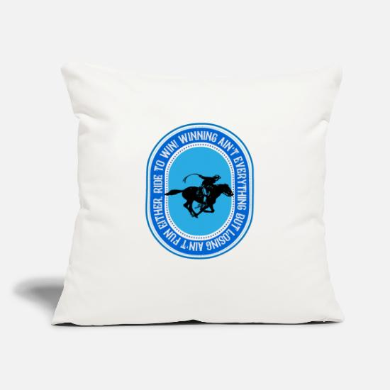 Gift Idea Pillow Cases - Ride to win, riding to win - Pillowcase 17,3'' x 17,3'' (45 x 45 cm) natural white