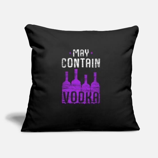 Birthday Pillow Cases - vodka - Pillowcase 17,3'' x 17,3'' (45 x 45 cm) black