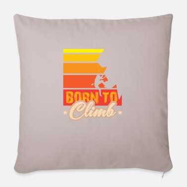 Rock Face Born to Climb Climbing on rock face - Pillowcase 17,3'' x 17,3'' (45 x 45 cm)