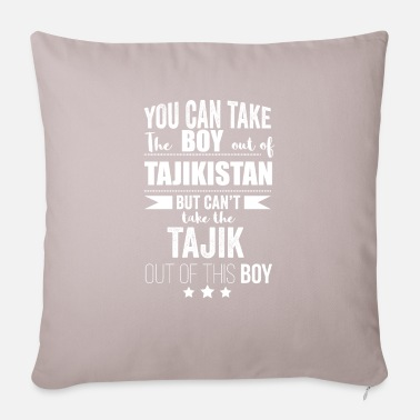 Bornandbred Can take boy out of Tajikistan but Can't take the - Pillowcase 17,3'' x 17,3'' (45 x 45 cm)