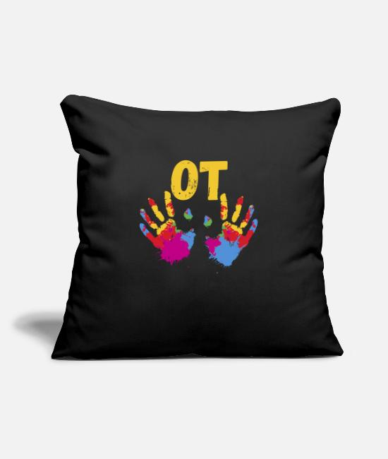 Therapy Pillow Cases - Occupational Therapist print, Occupational - Pillowcase 17,3'' x 17,3'' (45 x 45 cm) black