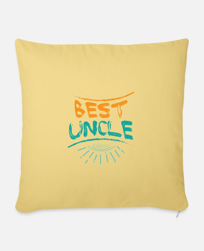 Uncle Pillow Cases - Best Uncle Best Uncle - Pillowcase 17,3'' x 17,3'' (45 x 45 cm) washed yellow
