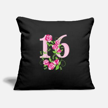 16th Birthday 16th birthday number 16th sixteen birthday - Pillowcase 17,3'' x 17,3'' (45 x 45 cm)