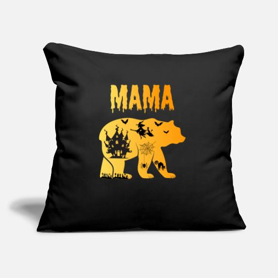 Witch Pillow Cases - Mama Bear Halloween Creepy Castle Witch Gift - Pillowcase 17,3'' x 17,3'' (45 x 45 cm) black