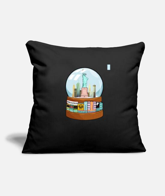 Movie Pillow Cases - New York Broadway Snow Globe Funny Gift - Pillowcase 17,3'' x 17,3'' (45 x 45 cm) black