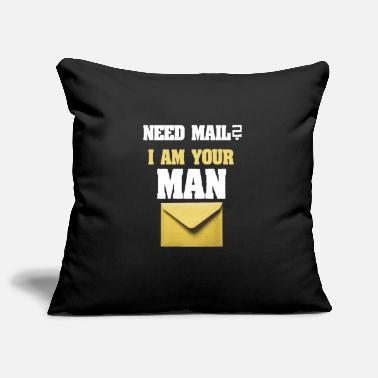 Composite Delivery Need mail? I am your MAN. Postman Yellow design - Pillowcase 17,3'' x 17,3'' (45 x 45 cm)
