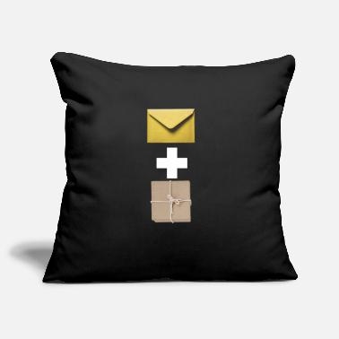 Composite Delivery Mail and parcel courier. Workshirt illustration - Pillowcase 17,3'' x 17,3'' (45 x 45 cm)
