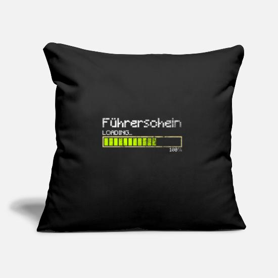 Gift Idea Pillow Cases - Driver's license Passed novice driver Loading Gesche - Pillowcase 17,3'' x 17,3'' (45 x 45 cm) black