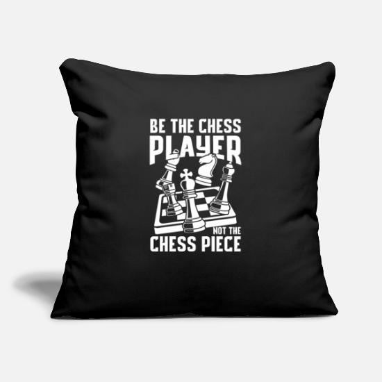 Chess Pillow Cases - Be the chess player and not the chess piece - Pillowcase 17,3'' x 17,3'' (45 x 45 cm) black