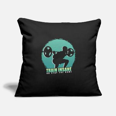 Squat Train hard or stay as you are - fitness - Pillowcase 17,3'' x 17,3'' (45 x 45 cm)