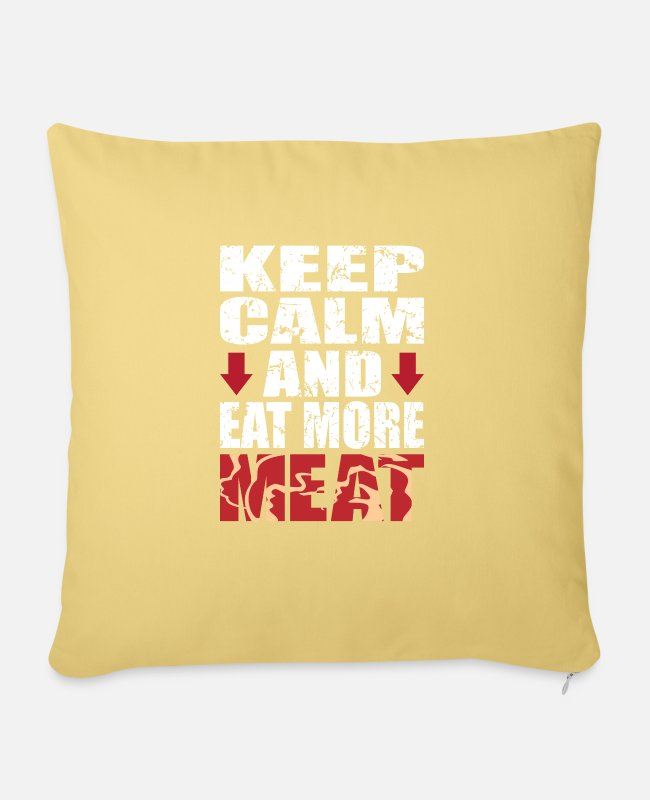 Sausage Pillow Cases - meat - Pillowcase 17,3'' x 17,3'' (45 x 45 cm) washed yellow