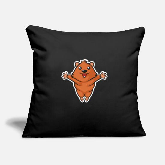 Love Pillow Cases - Sweet Quokka wants to give a hug love - Pillowcase 17,3'' x 17,3'' (45 x 45 cm) black