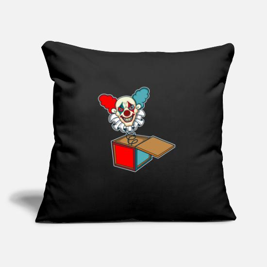 Gift Idea Pillow Cases - Clown Game Kids horror scared movie book gift - Pillowcase 17,3'' x 17,3'' (45 x 45 cm) black